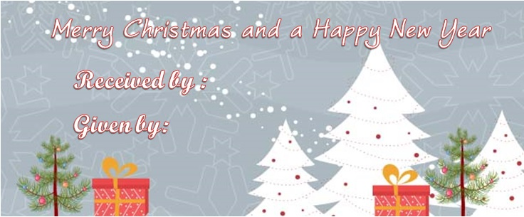 Generic Merry christmas gift certificate