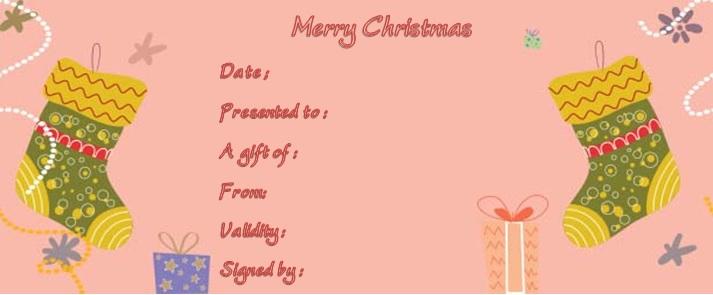 Generic christmas gift certificate