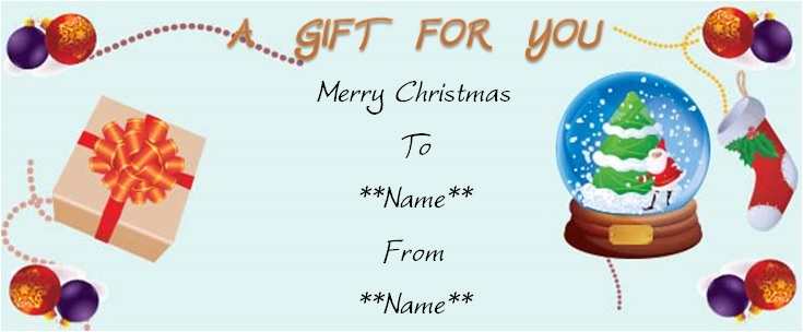 Generic christmas gift for you certificate