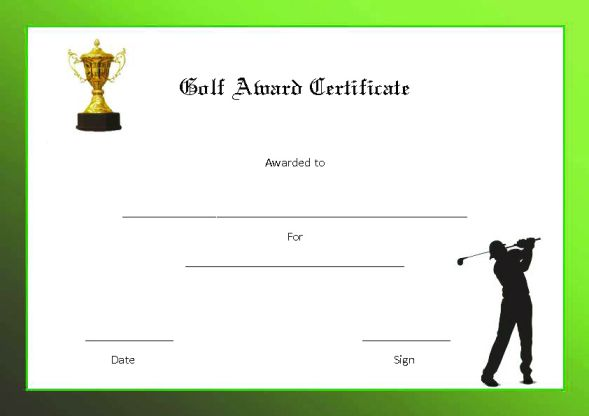 Free Printable Golf Certificates And Golf Awards Mandegarfo