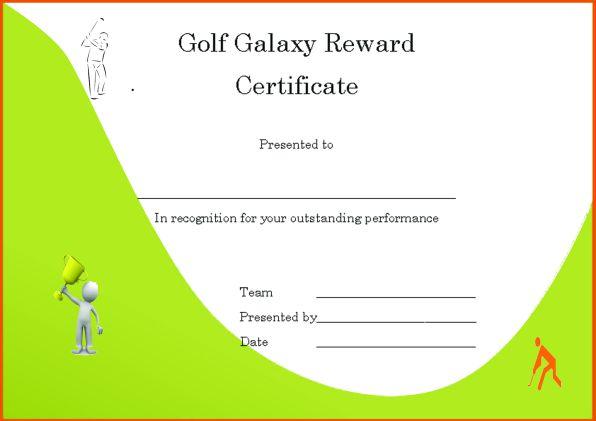 Golf Galaxy Reward Certificate