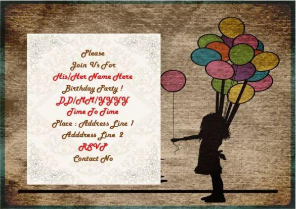 13th birthday invitation