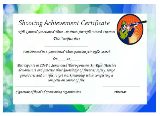 firearms training certificate template - Ukran.soochi.co