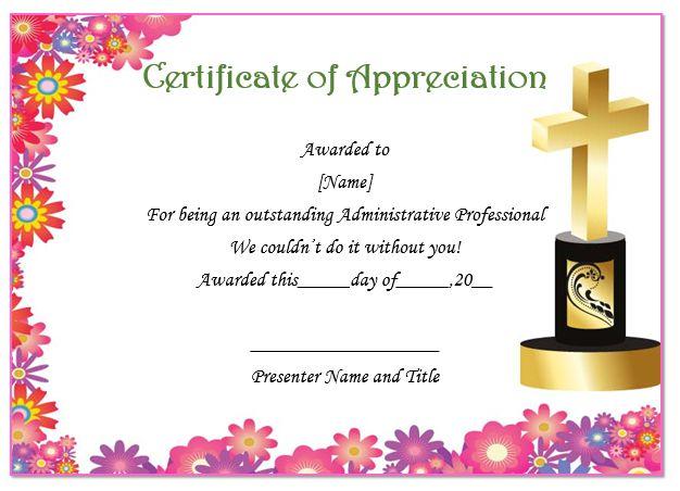 Thoughtful Pastor Appreciation Certificate Templates To Celebrate