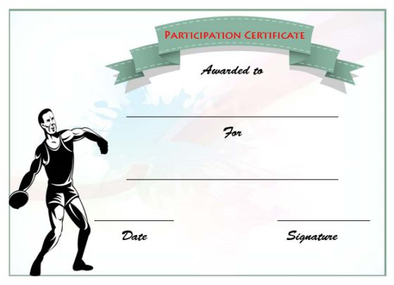 19 athletic certificate templates for schools clubs free download