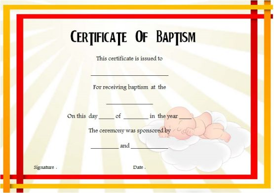 30+ Baptism Certificate Templates - Free Samples (Word Downloads ...