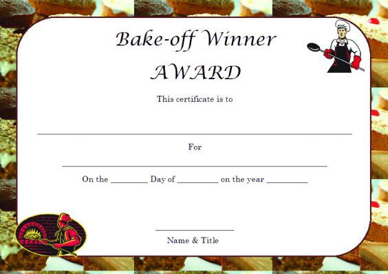 Winner certificate template 40 word templates for competitions bakeoffwinnercertificatetemplate download bakingcontestwinnercertificatetemplate download beautypageantwinnercertificatetemplate yelopaper Images
