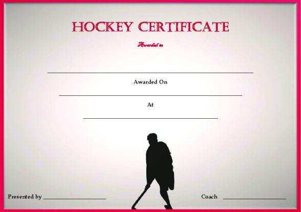 Blank Hockey Certificate Template