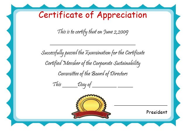 free certificate of appreciation templates