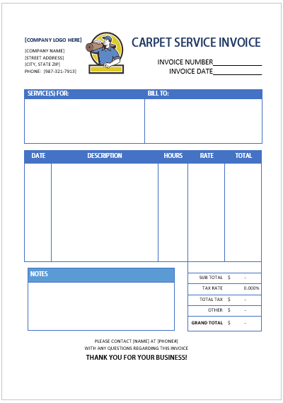 free cleaning invoice template