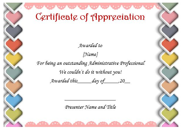 free certificate of appreciation template downloads - 50 professional free certificate of appreciation