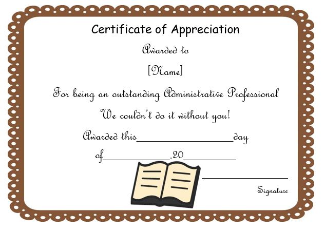 50 professional free certificate of appreciation for Open office certificate templates free