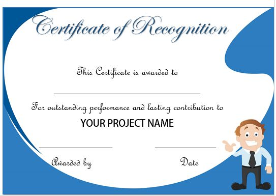 50 professional free certificate of appreciation for Recognition of service certificate template
