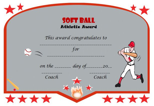 39 free softball award certificates templates ideas and titles