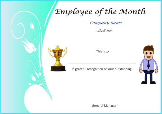 Elegant And Funny Employee Of The Month Certificate