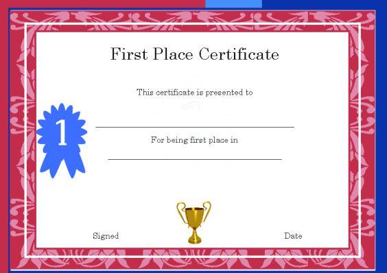 first_place_winner_certificate_template