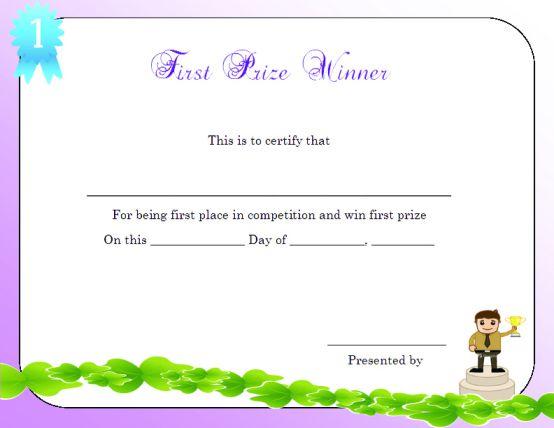 first_prize_winner_certificate_template