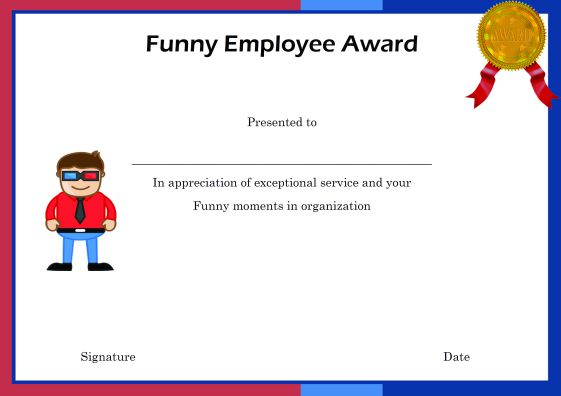 Elegant and funny employee of the month certificate for Funny certificates for employees templates