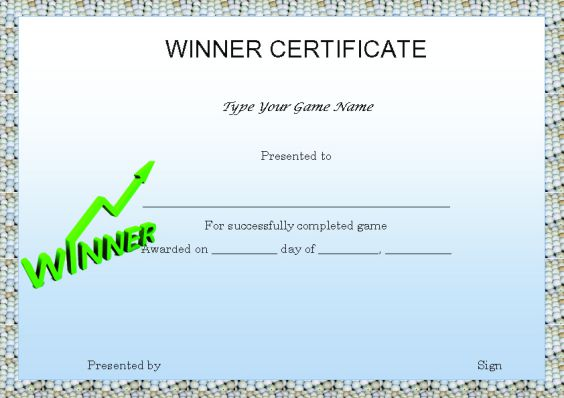 Winner certificate template 40 word templates for competitions gamewinnercertificatetemplate download golfwinnercertificatetemplate download grandprizewinnercertifcatetemplate yelopaper Image collections
