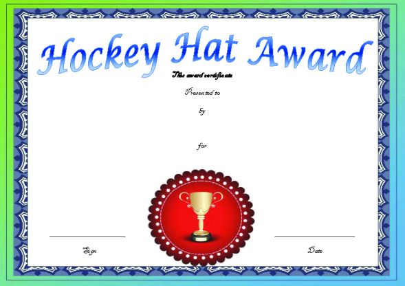 Hockey Hard Hat Award