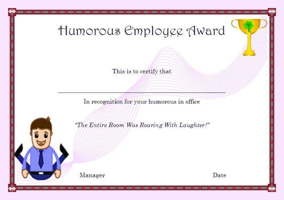 humorous_employee_award
