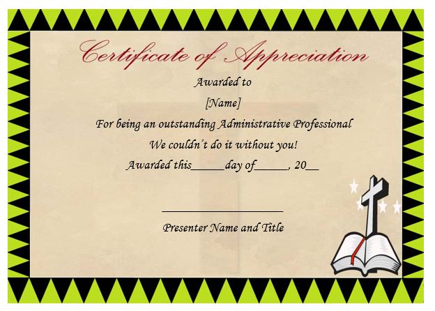 Thoughtful pastor appreciation certificate templates to celebrate pastor appreciation ideas for preschoolers yelopaper Image collections