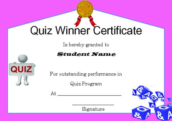 Winner certificate template 40 word templates for competitions quizwinnercertificatetemplate download racewinnercertificatetemplate yelopaper Image collections