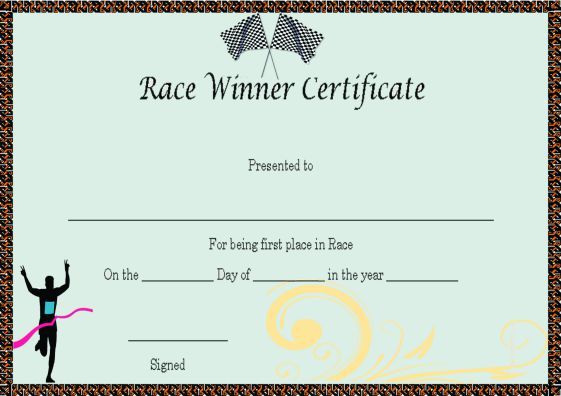 Winner Certificate Template 40 Word Templates For