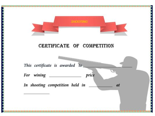 22 shooting certificate templates printable word
