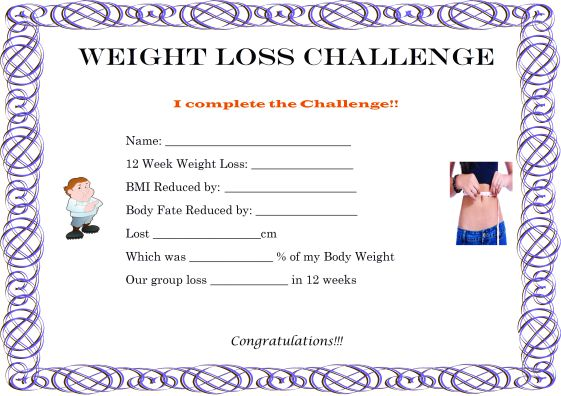 weight loss challenge flyer template - winner certificate template 40 word templates for