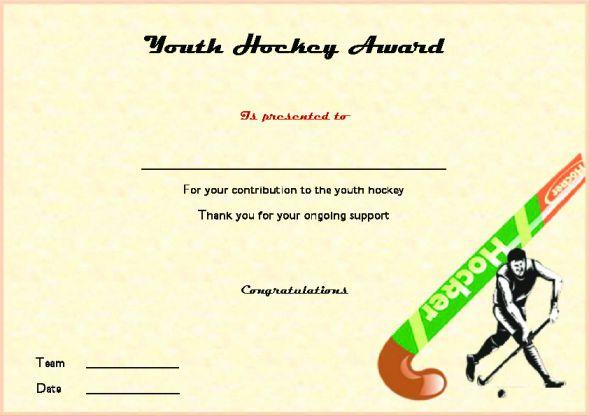 Youth Hockey Award