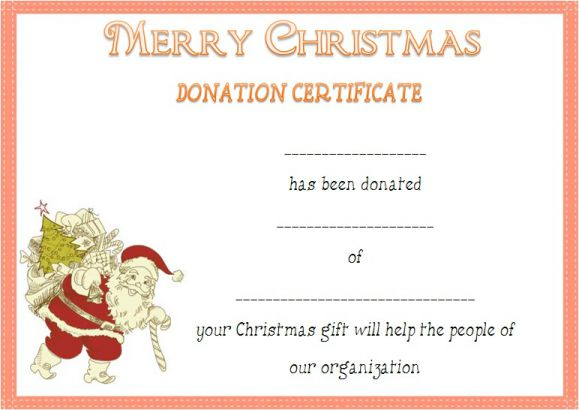 Legitimate Donation Certificate Templates For Your Next Campaign - Donation gift certificate template