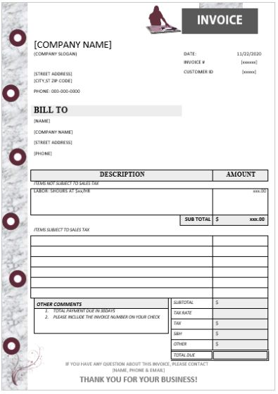dj disc jockey invoice template 15 templates in word doc