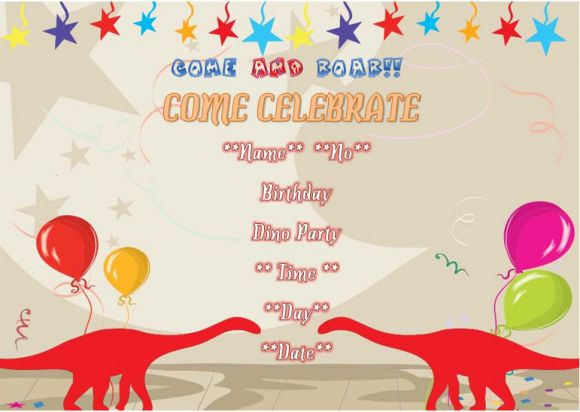 dinosaur birthday invitation templates 25 word templates best