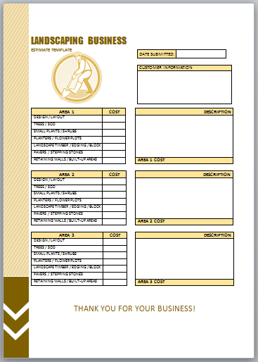 Landscaping Invoice Template 6