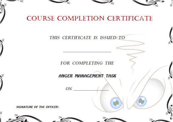 Certificate of completion template 55 word templates editable angermanagementcertificateofcompletiontemplate yelopaper Images