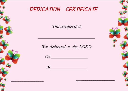 How To Create Awesome Baby Dedication Certificate Borders ?