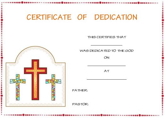 baby dedication certificates for single parents 1
