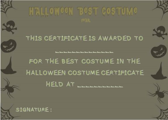 Best Dressed Certificate Template