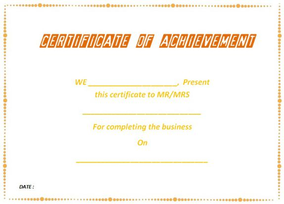 business_certificate_of_completion_template