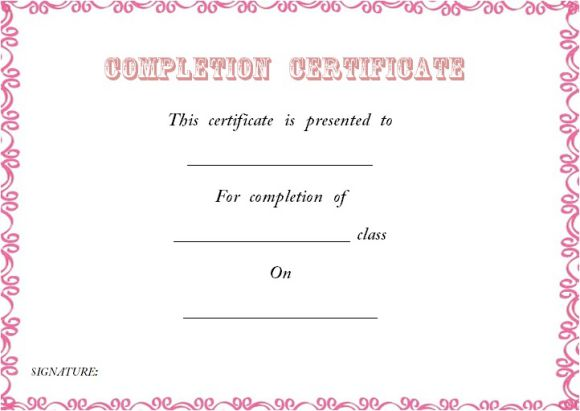 certificate_of_class_completion_template