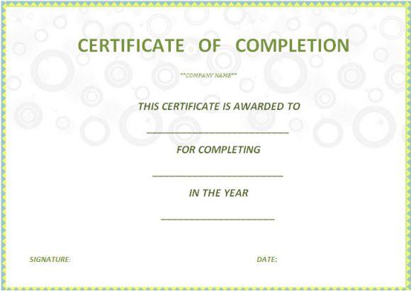 certificate_of_completion_template_free_printable