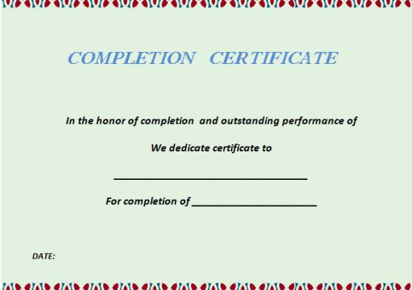 certificate_of_completion_template_green