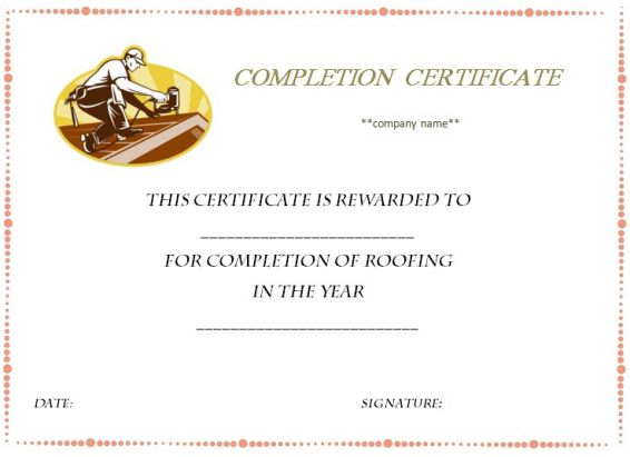 certificate_of_completion_template_roofing