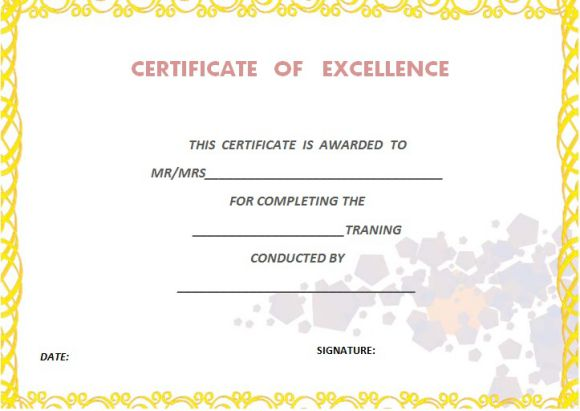 Certificate of completion template 55 word templates editable certificateoftrainingcompletiontemplate yelopaper Choice Image