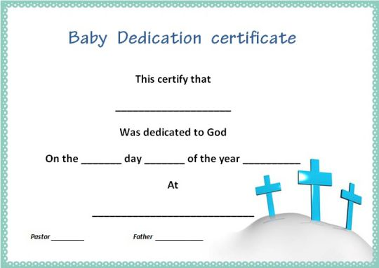 church child dedication certificate 1