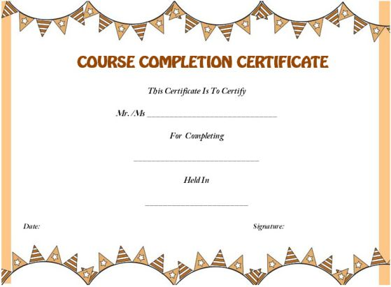 Certificate of completion template 55 word templates editable coursecompletioncertificateformatword yelopaper Image collections