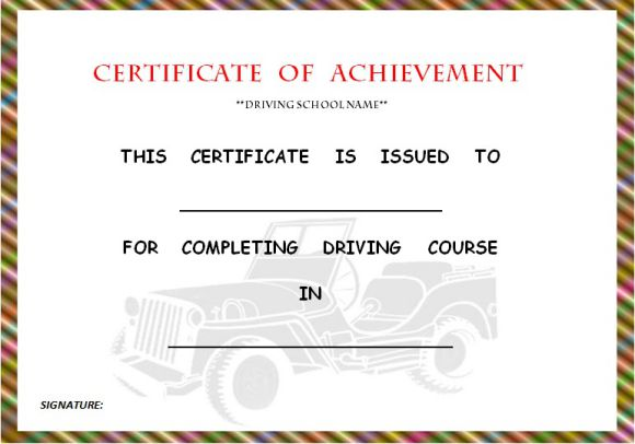 driving_school_certificate_of_completion_template