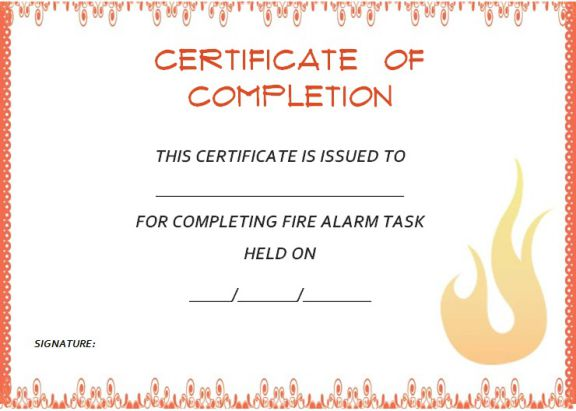 fire_alarm_certificate_of_completion_template