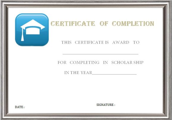 graduation_certificate_of_completion_template